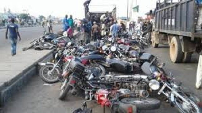 Gov Sanw-Olu Set To Crush 4,500 Impounded 'Okadas', Riders Begs