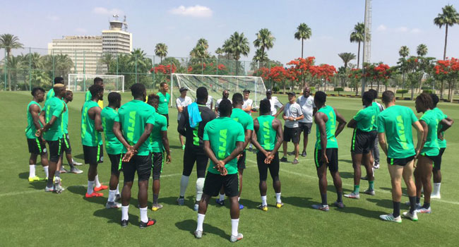 Super Eagles Train In Singapore Ahead Of Brazil Match On Sunday