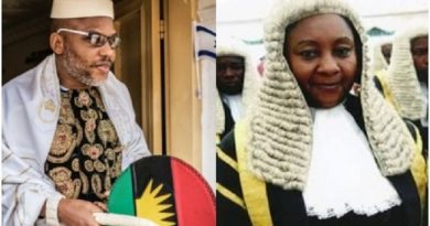 Nnamdi Kanu Reacts As Justice Nyako Says Prison Is Safest Place In Nigeria
