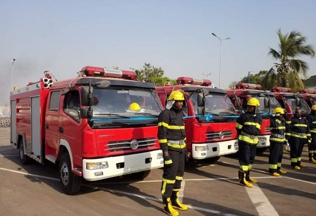 Gov. Ugwuanyi Hands Over Five Innoson Fire Fighting Trucks To Enugu State Fire Service