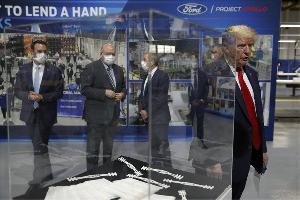 President Donald Trump Visits Ford Ventilator Plant (See Photos)