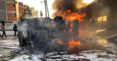 BREAKING:One Person Dies As Tanker Bursts Into Flames At Obalende (See Video)