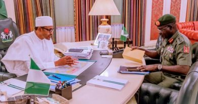 President Buhari Meets With Chief Of Army Staff Behind Closed Door