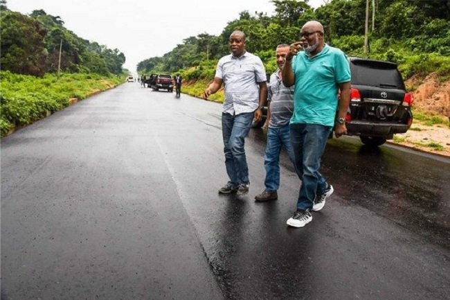 See Photos Of The 25 Roads Constructed By Governor Rotimi Akeredolu In His First Term