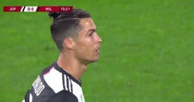 Breaking: Cristiano Ronaldo Missed A Penalty In Today's Match At The Second Leg Of The Semi-Final Match Between Juventus And AC Milan In The Coppa Italia.