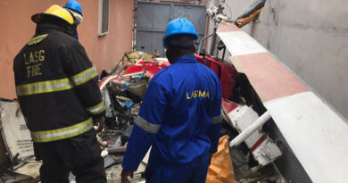 Breaking: Helicopter Crash Kills Two In Lagos