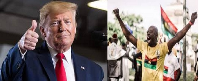 Biafra Agitators Will Celebrate Donald Trumps's Re-election This Year, As He Promise To Liberate Biafra, Africa From Bondage