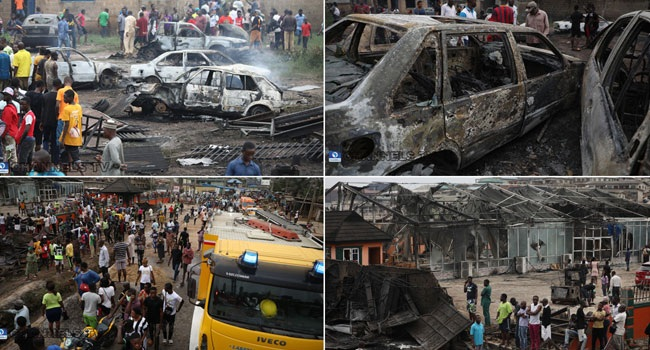 Details of The Gas Explosion That Enveloped Iju Ishaga Area Of Lagos With Over 52 People Confirmed Dead (See Video)